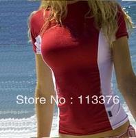 Lycra rash guard for women,nylon spandex material Unti UV 50+ professional rash guard