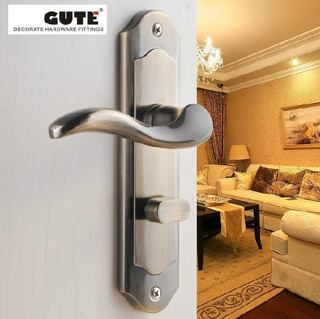 Free shipping classic and elgant zinc alloy door handle lock polish effects hardware suit for doors at thickness of 38 to 50 mm(China (Mainland))