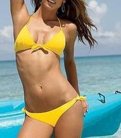hot !free shipping sexy swimsuit  beachwear Bra and underpants fashion women yellow bikini sexy Swimwear bathing set HY38
