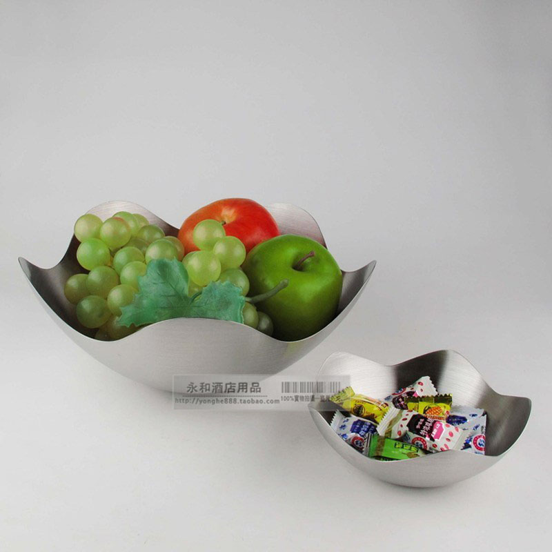 Flower stainless steel fruit plate fashion candy dish box dried fruit dish fruit bowl(China (Mainland))