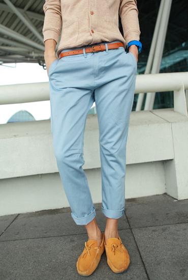 baby blue pants for men - Pi Pants