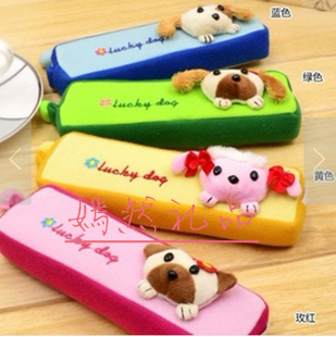 Cartoon pencil case school supplies stationery box gift birthday rose plush toys(China (Mainland))
