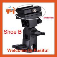 Free shipping Bracket Flash Shoe Umbrella Holder Swivel Light Stand B
