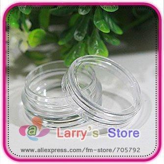 hot sellingFree Shipping 80pcs/Lot Nail Art Glitter Dust Powder Empty Case Box Whole Sale Clear Pots