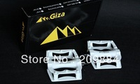Giza CX-7 CX7 Aluminum alloy ultra-light Ball bike pedals for Mountain MTB Bike bicycle pedals 390g/pairs white color