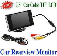 "free shipping 3.5"" Hign Definition Color TFT LCD Car Monitor 3.5 inch Car Reverse Backup Rearview Camera DVD"