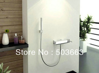 Unique Chrome Wall Mounted Bathroom Shower Faucet Set Vanity Faucet Contemporary Shower Bath Faucet L-3832