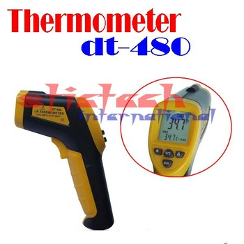 BY DHL OR EMS 100 pieces Non-Contact IR Laser -42~480 degree Infrared Digital Thermometer LCD with Back Light DT-480