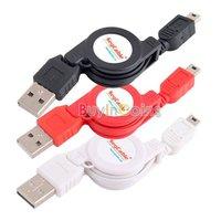 USB to Mini USB 5 Pin Male Retractable Data Cable MP3  [5968|99|01]