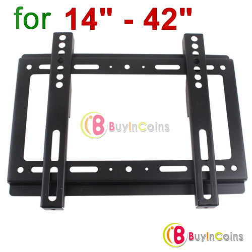 "New 14"" - 42"" 55lbs Flat Panel Screen LCD LED PDP Plasma TV Wall Mount Bracket [27459