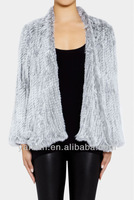 PROMOTION HOT SALE 2013 Latest Style Top Quality Rabbit Knitted Fur Jacket Lots of Colors