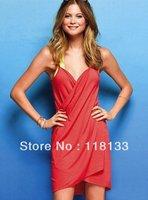 Fashion Lady Women Sexy Soft Cotton Beach Cover up dress Swimwear Bikini Clothe with 7 colors mixed DHL free shipping