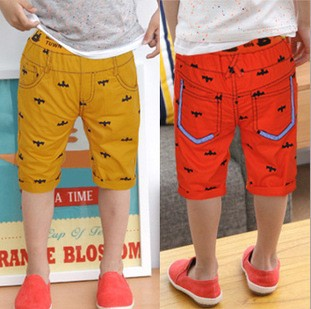 2013 Summer Children Shorts Boys Bat Printed Design Shorts Pirate Shorts Kids Clothes Free Shipping 5 PCS(China (Mainland))