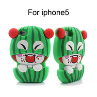 Funny 3D DIY Watermelon Kid Pattern Soft Silicone Case for iPhone 5 Snap-on Back Cover Free Shipping