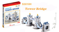Tower Bridge cubic fun S3010H 36pcs 3D Puzzle Famous buildings paper model DIY Educational toys for kids free shipping
