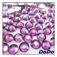 SS12 10000pcs/pack Amethyst  Color Flat back Acrylic Rhinestones Free Shipping