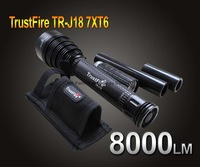 Trustfire TR-J18 Flashlight 5 Mode 8000 Lumens 7 X CREE XM-L T6 LED by 18650 or 26650 Battery Waterproof High Power Torch