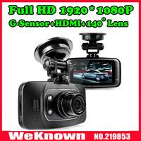 1080p full hd с 9712 объектив камеры автомобиля + 4xdigital зум + ночного видения + hdmi + av из + g сенсор рекордер dvr автомобиля 2,5-дюймовый ЖК экран автомобиля
