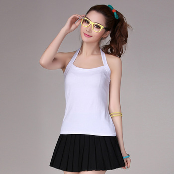 New arrival women's basic spaghetti strap top sexy halter-neck tube top vest female cotton 038 100%