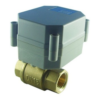 3 Wires DC9-24V Motorised Valve 2 Way 1/2'' Brass valve 1.0Mpa Open/Close 5 sec