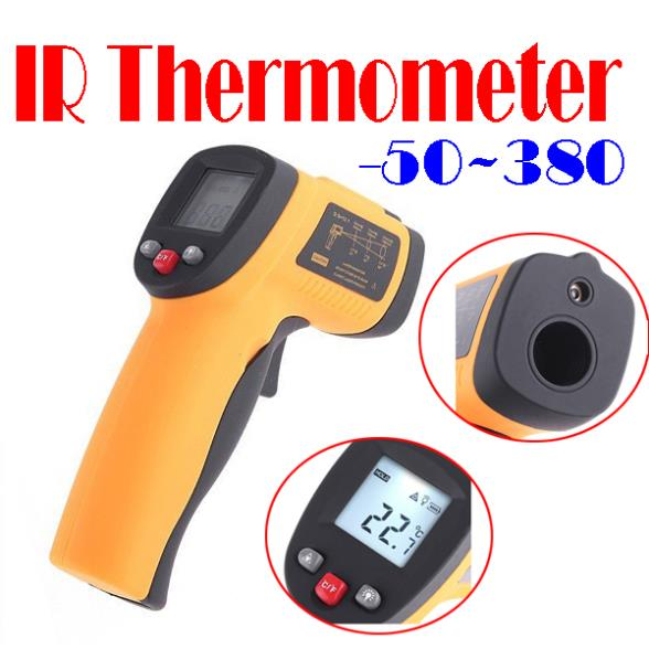 BY DHL OR EMS 30 pieces -50~380 Degree Non-Contact Infrared IR Digital Thermometer Laser Point free shipping
