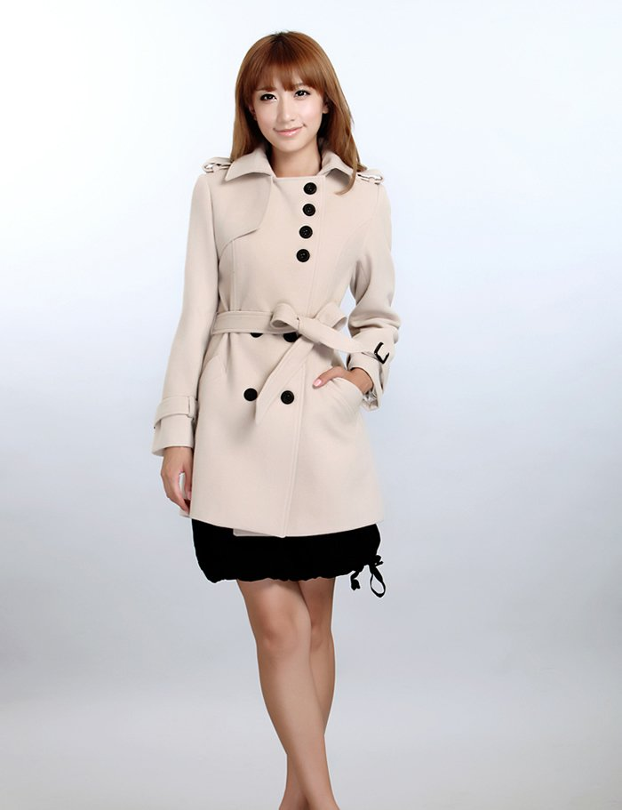 New women wool coats winter jacket trench coat outerwear warm jacket slim fit ladies&#39; overcoat(China (Mainland))