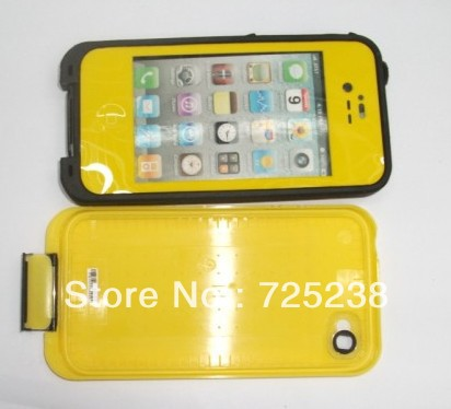 The best quality waterproof case for apple iphone 4 4s water life dirt proof cover(China (Mainland))