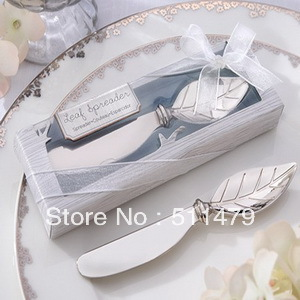 NEW ARRIVAL+Factory Outlet Wholesaling Chrome Leaf Spreader Wedding Favors+100sets/lot+FREE SHIPPING(RWF-0071P)(China (Mainland))
