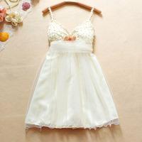 The latest beaded bow lace mesh Dress Bridal bridesmaid dress wedding toast evening dress