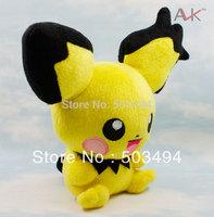 """Free Shipping EMS 30/Lot New Pokemon Pikachu Plush toy Soft Doll PICHU 7"""" Wholesale"""