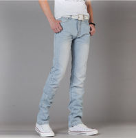 Promotion 2013 light-colored Korean version of Slim denim trousers man jeans Freeshipping