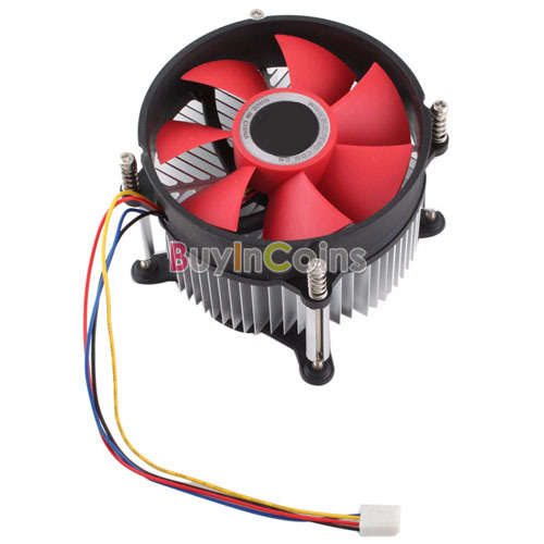 90mm PC Cooling 4 Pin Fan Cooler System Computer Case CPU Heatsink Coolant 9cm [20932|01|01](China (Mainland))