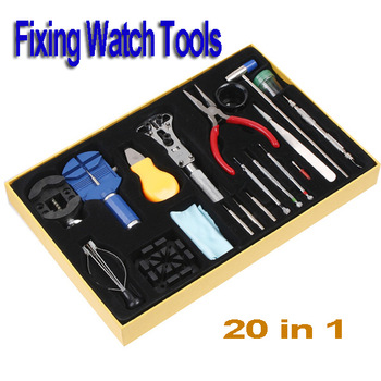 High Quality 20pcs Horologe Wrist Watch watchmakers Case Opener Repair Tools Set Kit, free shipping Wholesale