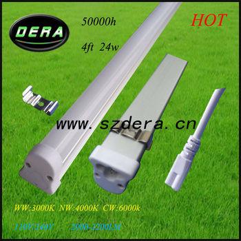 50pcs/lot 24W dimmer led,1.2m T5 fluorescent light fixtures 1900lm t5 aquarium lighting Free shipping