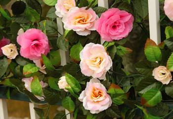Artificial flower vine rose vine rattails artificial flower rose vine hanging vines