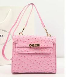 Free shipping retro street crocodile pattern ostrich pattern platinum gold package shoulder bag women Messenger bag