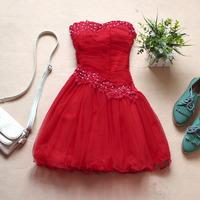 2013 new The new Bra big red white wedding dress bridesmaid dress dress toast clothing