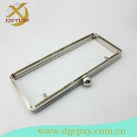 20.5*8.5cm nickel metal oblong shape evening bag and dressing box clutch frame
