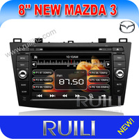 "dvd Mazda 3, 8"" 2din car dvd player with GPS navigation,TV,camera input,can bus,2013 product.Free shipping"