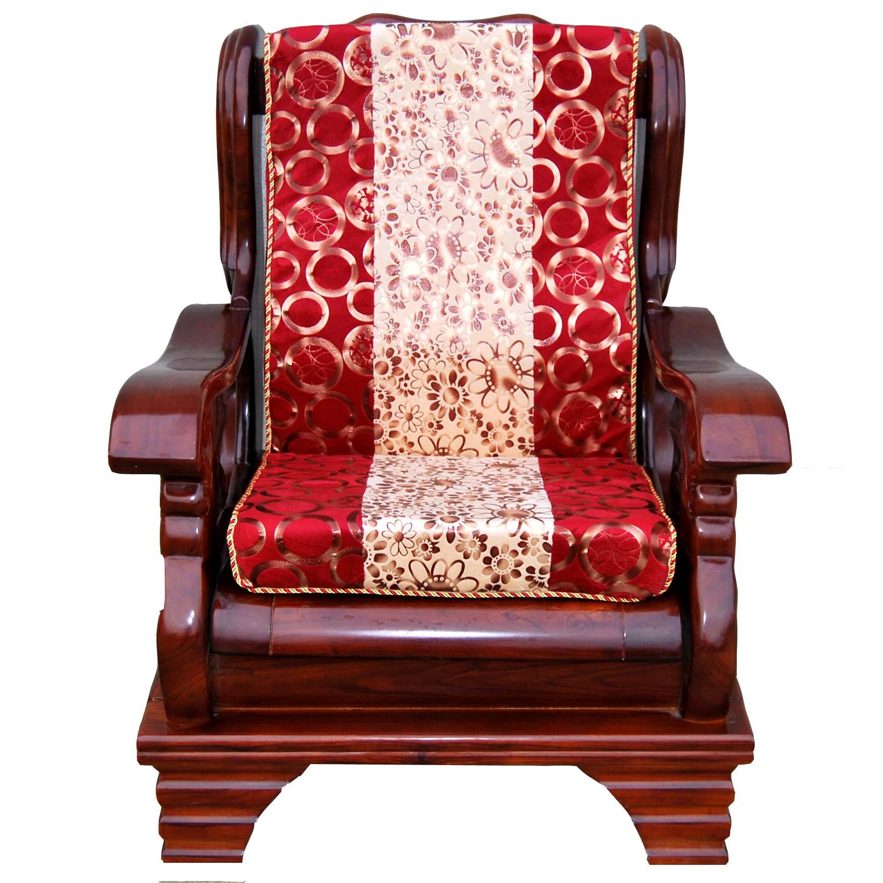 2013 sofa mahogany mat thick sponge wool chair wood sofa cushion belt one piece customize(China (Mainland))