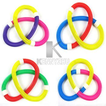 10pcs/lot Fashion Elastic Spring Waist Slimming Thin Soft Hula Hoop For Fitness Exercise free Fedex