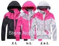 free shipping 2013 spring  brand the women's sports jacket with a hood reversible ultra-thin outerwear coats jacket woanen 1205