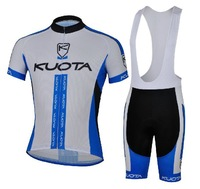2013 NEW!!! KUOTA blue bib short sleeve cycling jerseys wear clothes bicycle/bike/riding jerseys+bib pants shorts