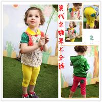 2013 summer female child legging candy color modal cartoon capris