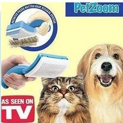 Pet Zoom Self Cleaning Grooming Brush One Touch Brush Petzoom As Seen On TV free shipping(China (Mainland))
