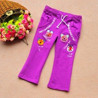 2013 Sunlun Free Shipping Girls' Velvet Leisure Pants Four Colours Casual Trousers New Arrival Thickening Trousers