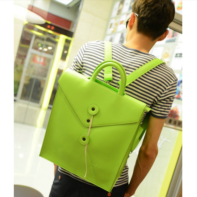 British style 2013 neon color male female summer backpack bag portable one shoulder vintage casual cross-body bag(China (Mainland))
