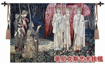 Belgium unicorn tapestries medieval big size 140*100cm, living room wall adornment series-lady jacquard  fabric picture tapestry