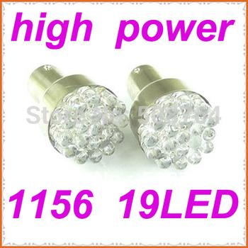 Freeshipping 2pcs BA15S 1156 19 LED White lights Tail Turn Signal light bulbs LAMP