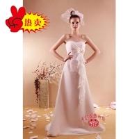Waistline exquisite beaded bride dress maternity clothing customize